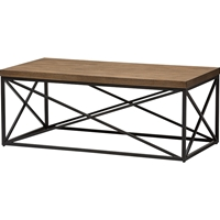 Holden Rectangular Coffee Cocktail Table - Antique Bronze, Brown