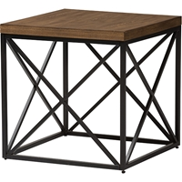 Holden Square End Table - Antique Bronze, Brown