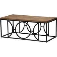 Palmer Rectangular Coffee Cocktail Table - Antique Bronze, Brown
