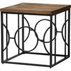 Palmer Square End Table - Antique Bronze, Brown