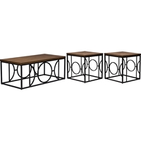 Palmer 3-Piece Occasional Table Set - Antique Bronze, Brown