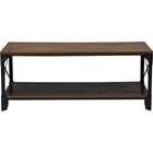Greyson 1 Shelf Coffee Table - Antique Bronze, Brown