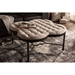Branagh Microfiber Tufted Coffee Table - Black, Beige - WI-YLX-7004