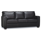 Priya Chocolate Leather Sleeper Sofa