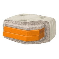 Wolf - Ultimate Serenity 8%27%27 Loveseat Futon Mattress with Double 2%27%27 Foam Core