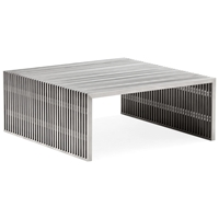 Novel Square Coffee Table - Stainless Steel