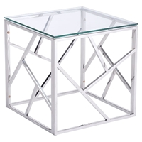 Cage Side Table - Stainless Steel