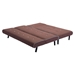 Greco Sleeper Sectional - Mocha with Blue Trim - ZM-100206