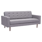 Puget Sofa - Tufted, Gray