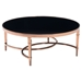 Elite Round Coffee Table - Rose Gold and Black - ZM-100347