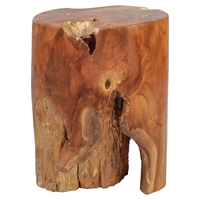 Petro Stool - Natural and Antique Gold