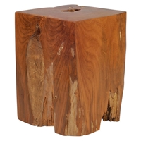 Prehistoric Stool - Natural and Antique Gold