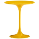 Wilco Tulip Side Table - Fiberglass, Yellow