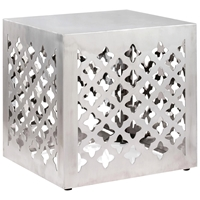 Kailua Modern Stool - Stainless Steel, Square
