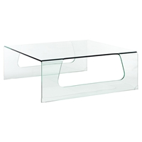 Campaign Clear Coffee Table