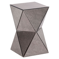 Prism Mirror Side Table - Antique