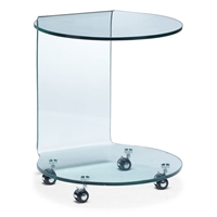 Mission Round Glass Side Table