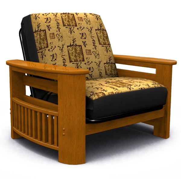 Portofino Honey Oak Futon Chair