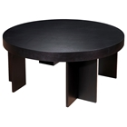 La Jolla Wood Cocktail Table - Espresso, Round Top, Angular Legs