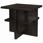 Samantha Square End Table - Espresso on Birch