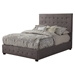 Alma Upholstered Bed - Charcoal, Tufted, Platform - ALP-1083-BED