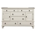 Winchester Dresser - White, 6 Drawers, 2 Doors - ALP-1306-W-DR