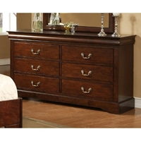 West Haven Six Drawer Dresser in Cappuccino