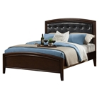La Jolla Bed - Espresso, Upholstered Headboard