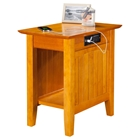 Nantucket Chair Side Table - Rectangular, Charging Station