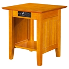 Nantucket End Table - Rectangular, 1 Shelf, Charging Station