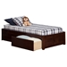 Concord Wood Bed - 2 Urban Bed Drawers, Flat Panel Foot Board - ATL-AR80-211