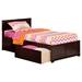 Orlando Wood Bed - Flat Panel Foot Board, 2 Urban Bed Drawers - ATL-AR81-211