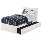 Nantucket Flat Panel Foot Board Bed - Trundle Bed, Platform