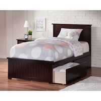 Nantucket Queen Wood Bed - Matching Foot Board, 2 Drawers