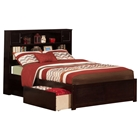 Newport Flat Panel Foot Board Bed - 2 Drawers, Platform, Bookcase Headboard