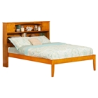 Newport Full Platform Bed - Bookcase Headboard