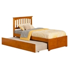 Mission Wood Bed - Urban Trundle, Flat Panel Foot Board