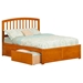 Richmond Platform Bed - Flat Panel Foot Board, 2 Urban Bed Drawers - ATL-AR88-211