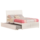 Portland Flat Panel Foot Board Bed - Trundle Bed, Platform