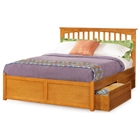 Brooklyn Platform Bed w/ Flat Panel Footboard and Drawers