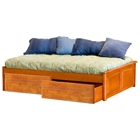 Concord Platform Bed w/ Raised Panel Footboard and Flat Panel Drawers