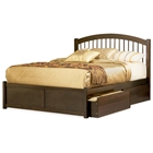 Windsor Platform Bed w/ Flat Panel Footboard and Drawers