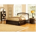 Windsor Platform Bed w/ Flat Panel Footboard - ATL-WPBFP