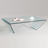 Braden Bent Glass Rectangle Cocktail Table