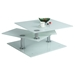 Motion Cocktail Table - White Starphire - CI-8052-CT-WHT