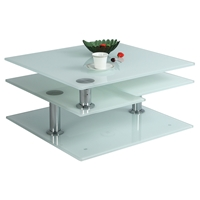 Motion Cocktail Table - White Starphire