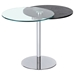 Motion Lamp Table - Merlot and Clear Top, Chrome Base - CI-8176-LT