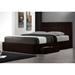 Marlowe Leather Platform Storage Bed in Espresso - DCS-2310-ESP
