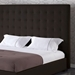 Delano Espresso Leather Platform Bed with Tufted Headboard - DCS-1155-ESP