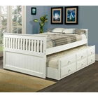 Gershwin Full Cottage Trundle Bed - Round Knobs, White